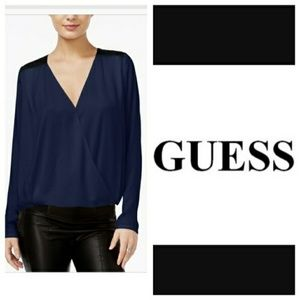 Guess Glenda Medieval Blue Blouse